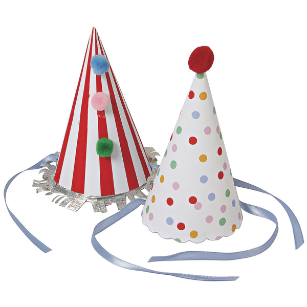 Toot Sweet - set of 8 Party Hats by Meri Meri