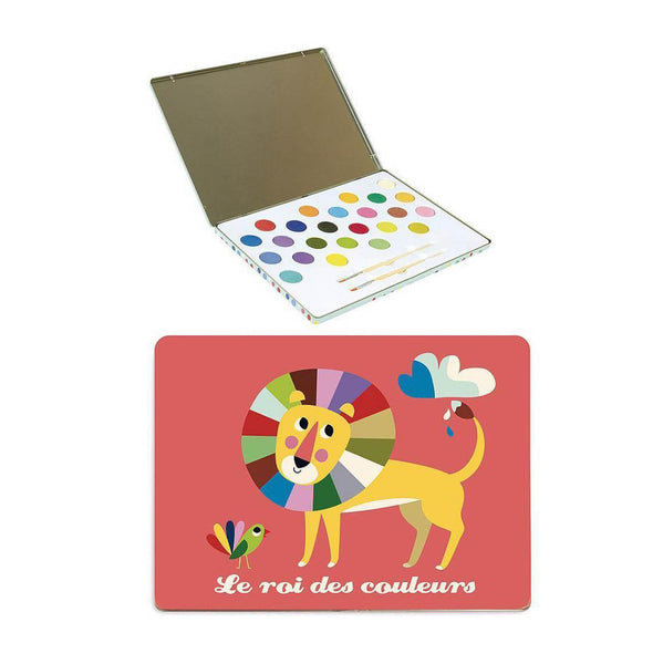 King's Colour Water Painting Set by Ingela P Arrhenius for Vilac