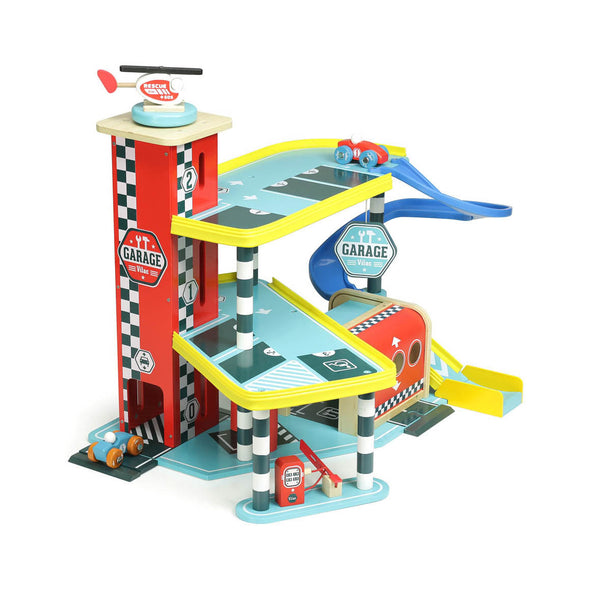 Vilacity Wooden Toy Garage by Vilac