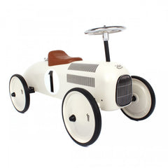 Classic Ride-On Racing Car - White - Little Citizens Boutique  - 3