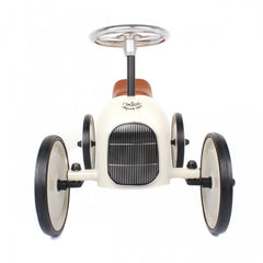 Classic Ride-On Racing Car - White - Little Citizens Boutique  - 2