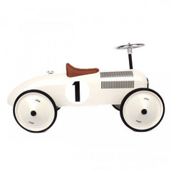 Classic Ride-On Racing Car - White - Little Citizens Boutique  - 1