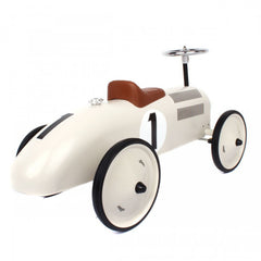 Classic Ride-On Racing Car - White - Little Citizens Boutique  - 4