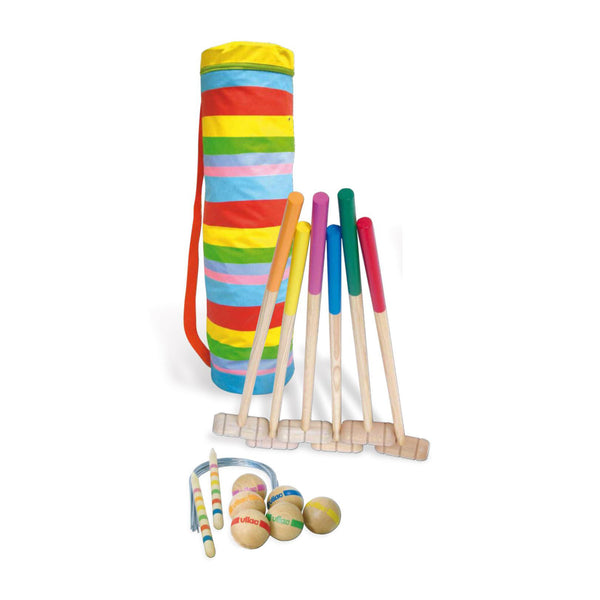 Garden Wooden Croquet Set by Vilac