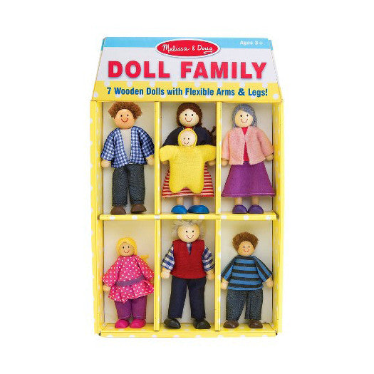 Wooden Dollhouse Family Toy Set by Melissa & Doug