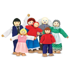 Wooden Doll Family Toy Set by Melissa & Doug - Little Citizens Boutique  - 2