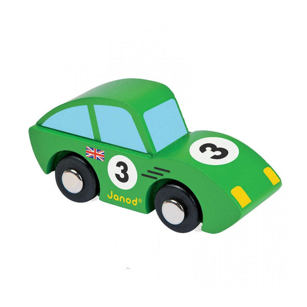 Janod Story Roadster Wooden Car - Green