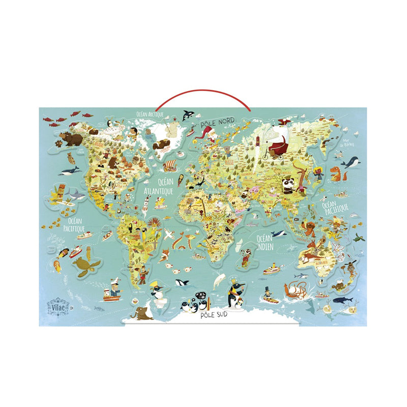 World Magnetic Map Puzzle from Vilac