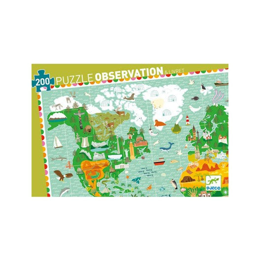 World Map Puzzle by Djeco