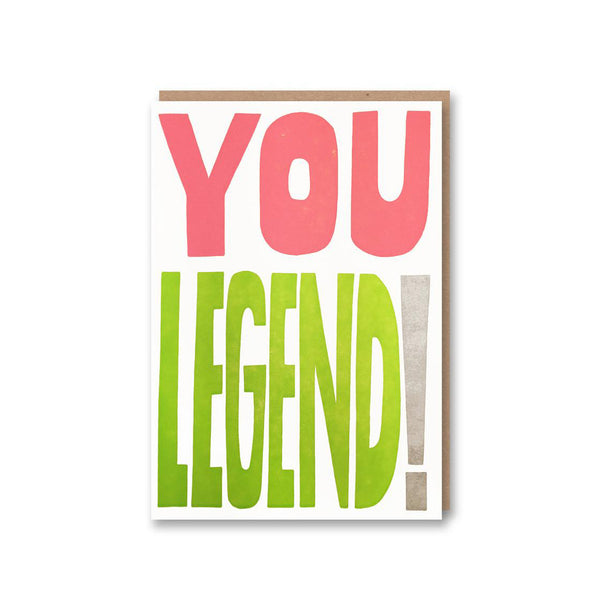 'You Are Legend!' Card from Sukie