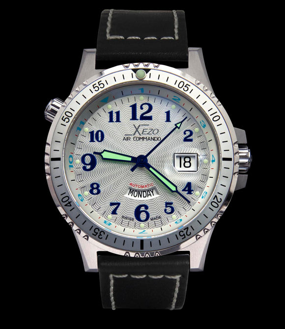 Air Commando D44 S (Silver Guilloché) Leather