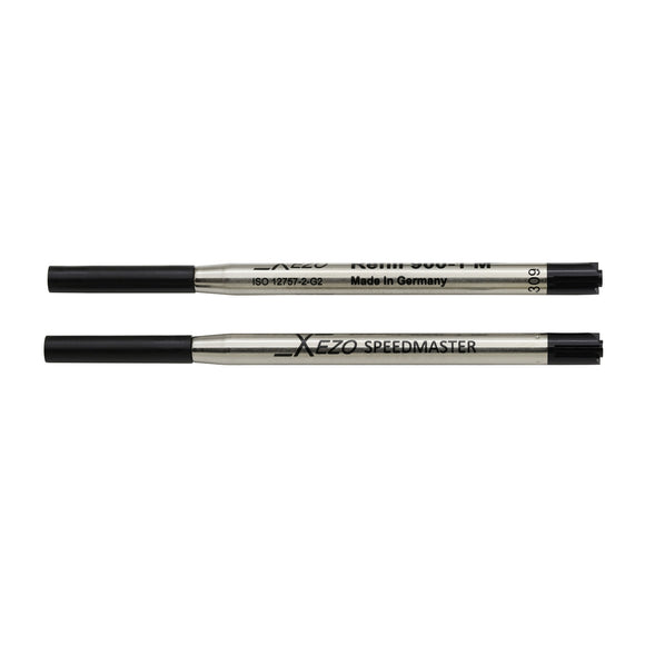 Xezo Speedmaster 900-1 Black Ballpoint Gel Refills - Pack of 2