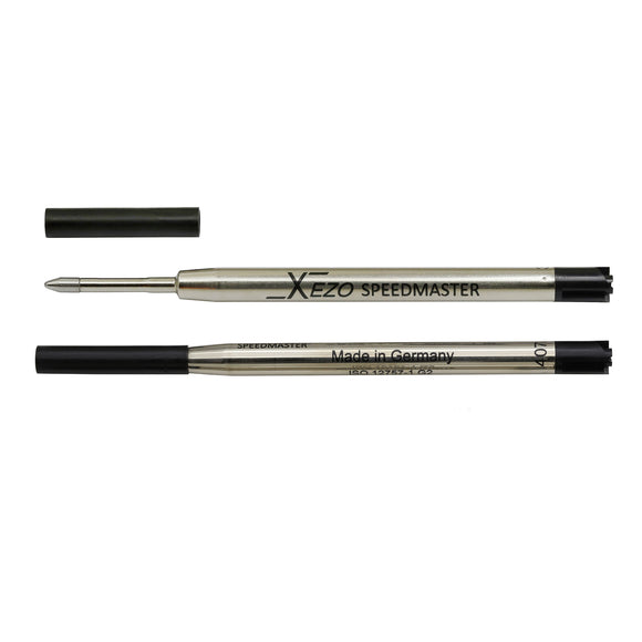 Xezo Speedmaster 9000-1 Black Ballpoint Gel Refills - Pack of 2