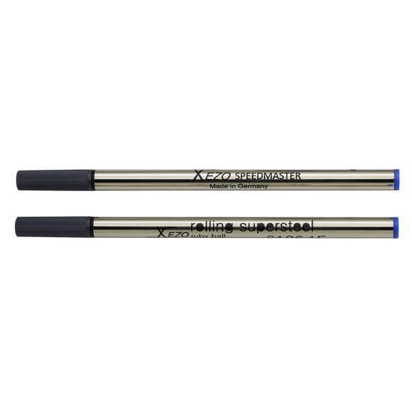 Xezo Speedmaster Blue Rollerball Refills - Pack of 2