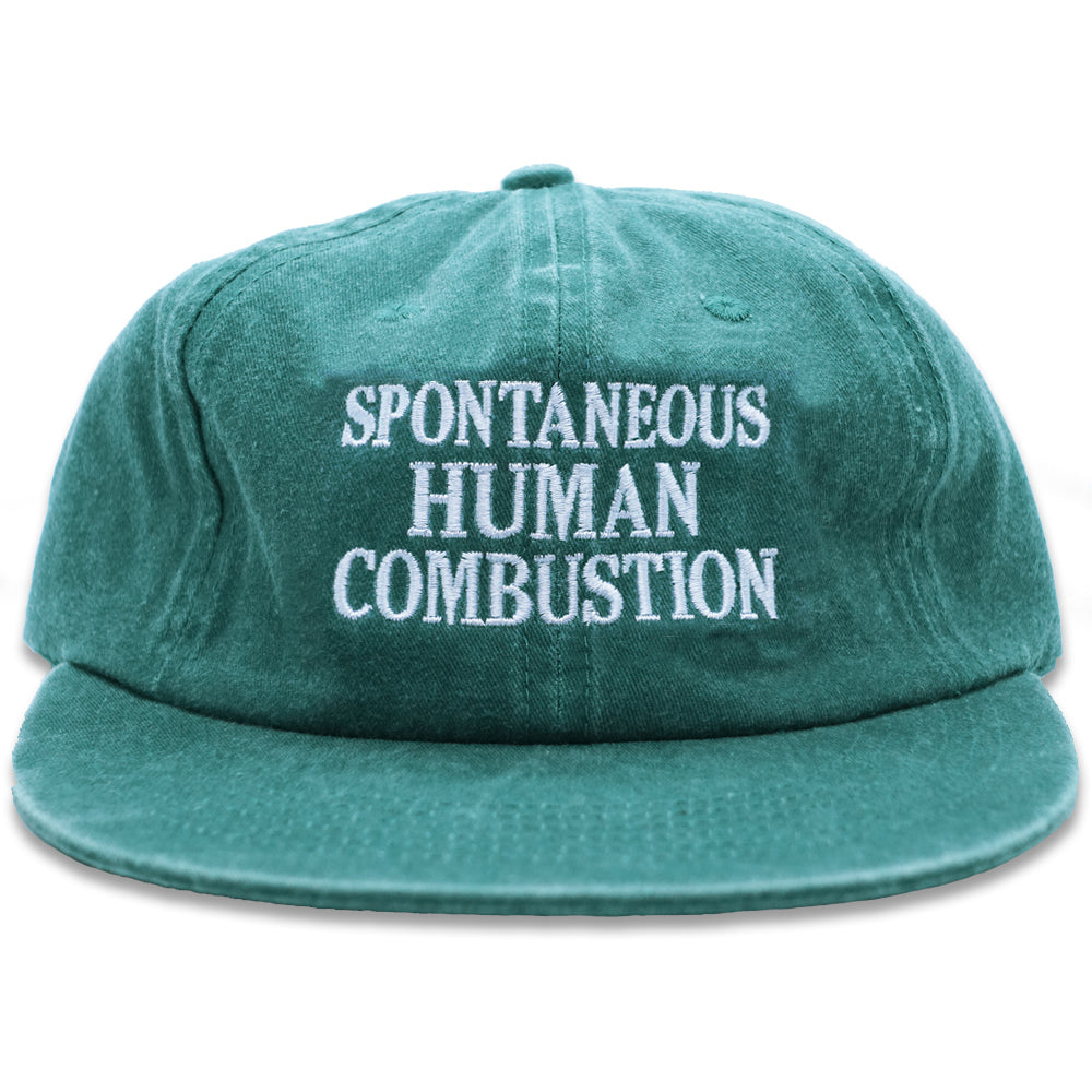 HUMAN COMBUSTION PIGMENT DYED GREEN CAP