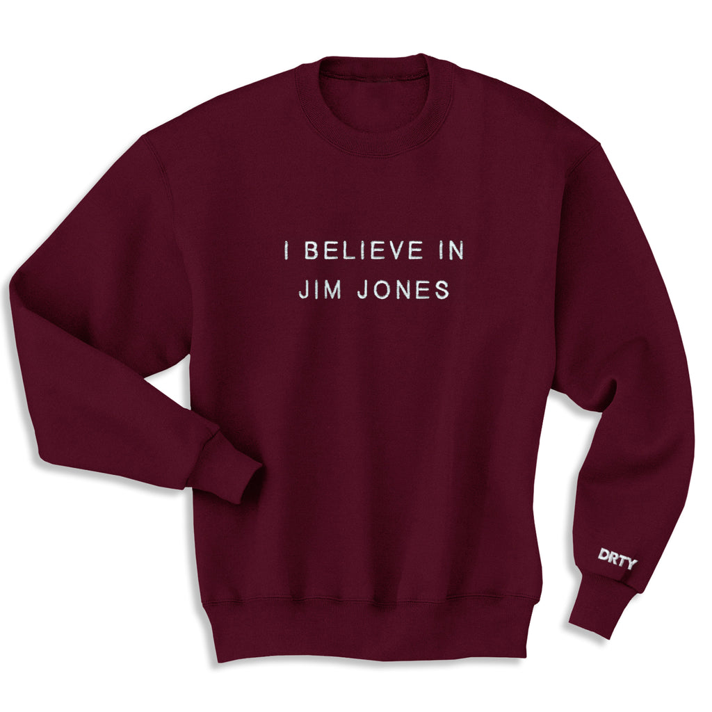 JIM JONES CREWNECK BURGUNDY