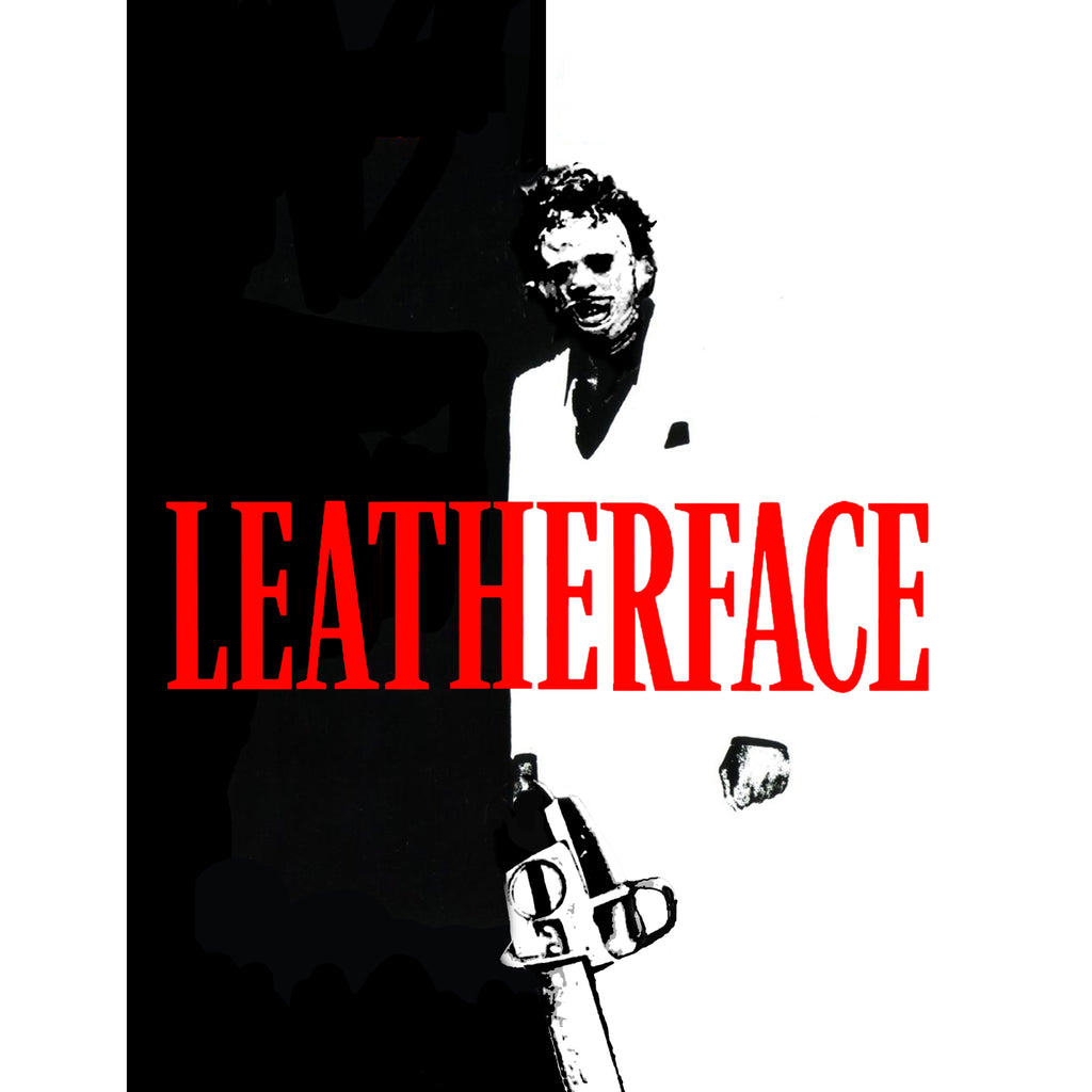 LEATHERFACE WHITE TEE SS
