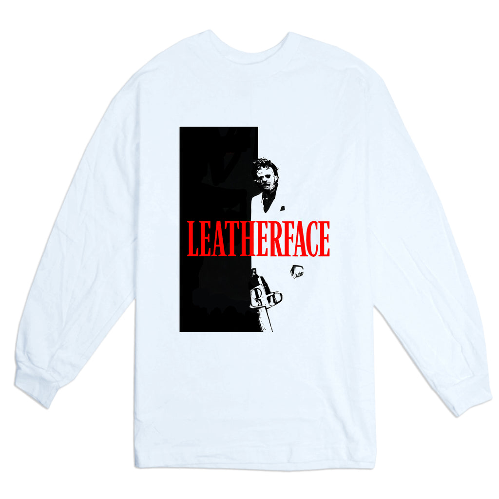LEATHERFACE WHITE TEE LS