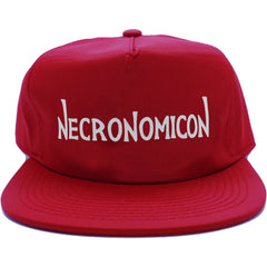 NECRONOMICON NYLON CAP RED