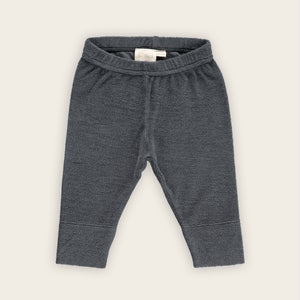 Towelling Slim Pants, Charcoal