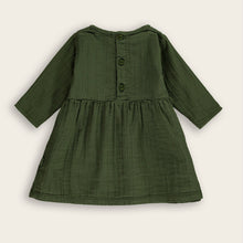 Load image into Gallery viewer, Baby Dress, Dark Moss