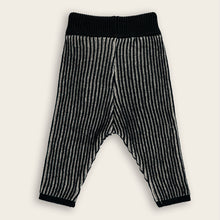 Load image into Gallery viewer, Knit Baby Long Pants, Coal & Oat Stripes