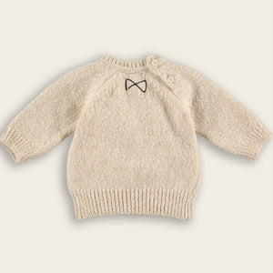 Knit Baby Sweater, Oat