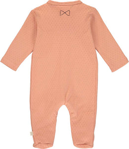 Patterned Salmon Babygrow