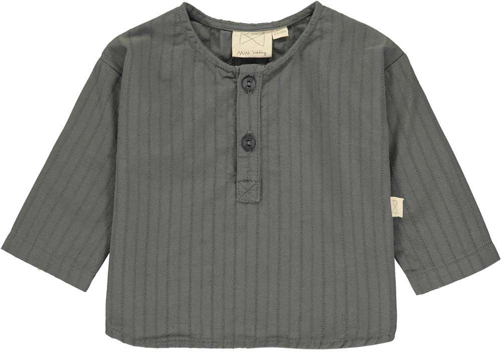Charcoal Button Front Top