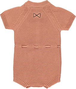 Salmon Knitted Short Romper