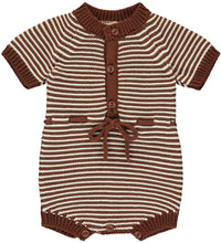 Load image into Gallery viewer, Cacao Knitted Short Romper