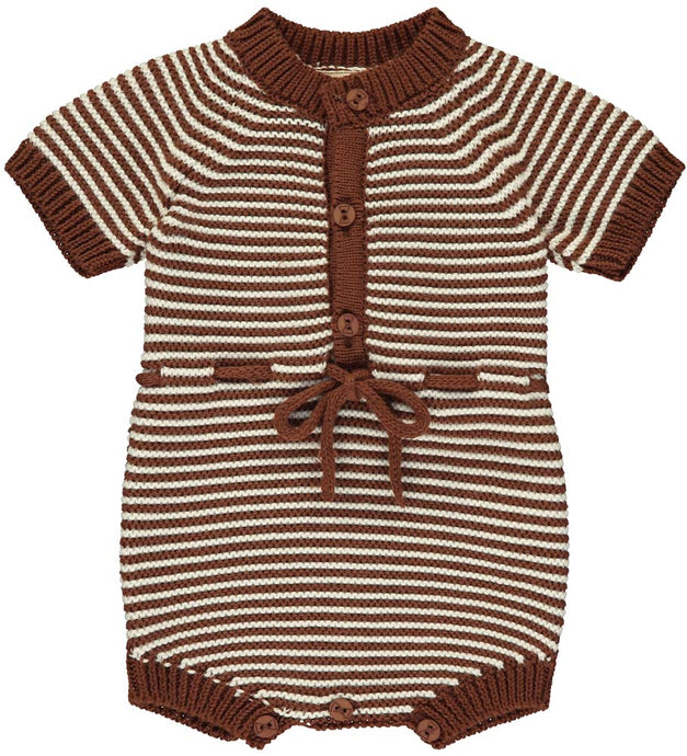 Cacao Knitted Short Romper
