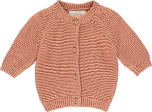 Salmon Knitted Cardigan
