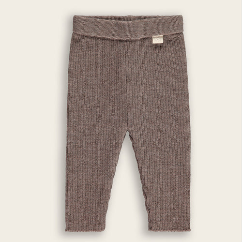 Merino Knit Baby Long Pants, Mocha