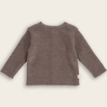 Load image into Gallery viewer, Merino Knit Baby Sweater-Cardigan, Mocha