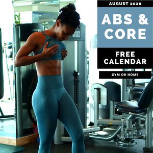 FREE - Abs & Core Workout Calendar - AUGUST 2020
