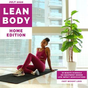 Lean Body Workout Calendar - Home Edition - JULY 2020