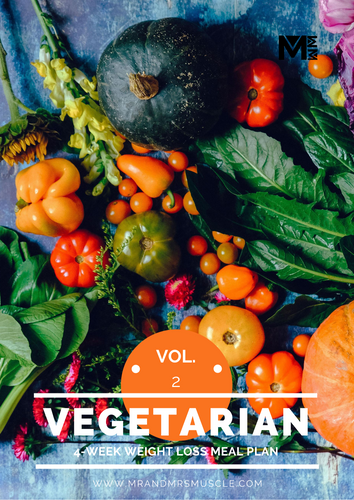 Vol.2 Vegetarian Weight Loss Meal Plan - 4 Weeks