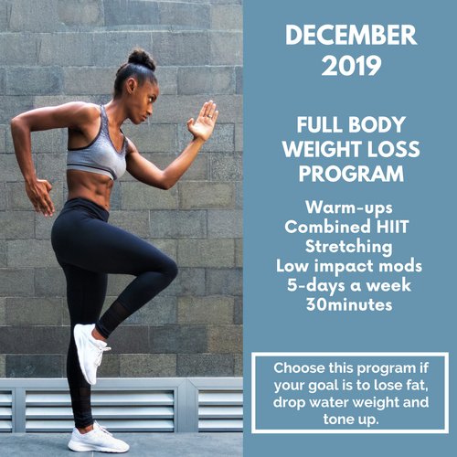 Full Body Weight Loss Program - December 2019