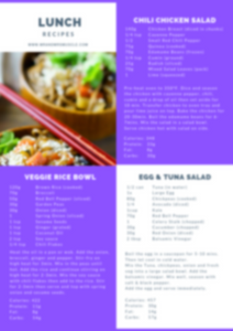 Omnivore Weight Loss Meal Plan - 4 Weeks