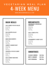 vegetarian menu healthy
