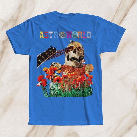 Blue Astroworld Tour Tee