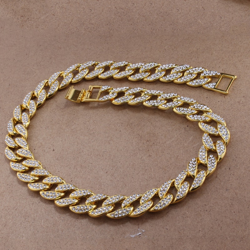 ICED OUT GOLD CUBAN CHAIN