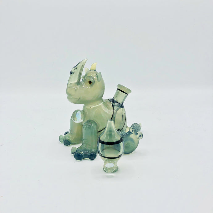 Pastel Potion Rhino Waterpipe + Bubble Cap