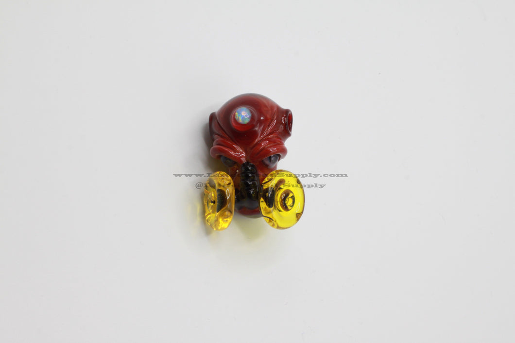 Upgrade Glass Gas Mask Face Pendant