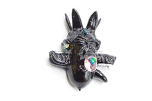 Load image into Gallery viewer, Black Three Headed Wolf Pendant