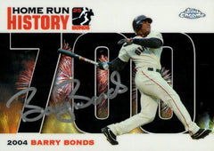 2006 Signed Topps Chrome Black Refractor HR History Card – HR 700 | Barry Bonds
