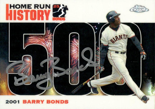 2006 Signed Topps Chrome Black Refractor HR History Card– HR 500