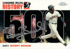 2006 Signed Topps Chrome Black Refractor HR History Card– HR 500 | Barry Bonds