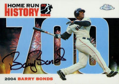2006 Signed Topps Chrome Blue Refractor HR History Card – HR 700 | Barry Bonds